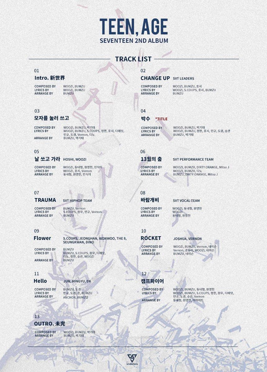 seventeen-track-list
